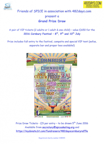 Grand Prize Draw!  Cornbury Festival 2016